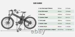 Ecotric 26 1000w 48v 13ah Vélo Électrique De Montagne E-bike Frein Hydraulique LCD