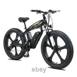 Electric Bike Fat Tyre 26 1000w 48v 13ah Sharps Black Ebike 27 Speed 50km Gamme