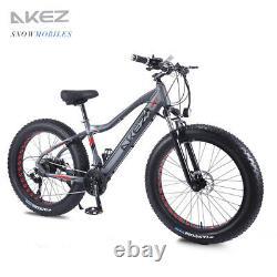 Electric Bike Fat Tyre 26 350w 48v 13ah Cruiser Black Premium Ebike 40 Km