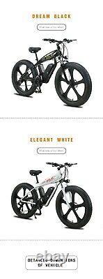 Electric Bike Fat Tyre 26 350w 48v 13ah Sharps White Ebike 27 Speed 50 Km Gamme