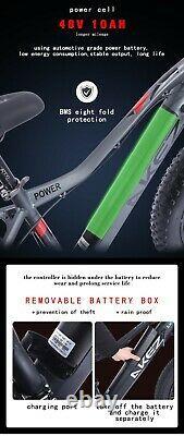 Electric Bike Fat Tyre 26 750w 48v 13ah Cruiser Black Premium Ebike 40 Km