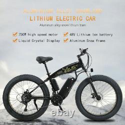 Electric Bike Fat Tyre 26 750w 48v 13ah Sharp Black Ebike 27 Speed 50 Km Gamme