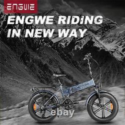 Engwe 500w 48v E-bike 20 Fat Tyre Folding Electric Bike12.5ah 7spd 30mph Royaume-uni