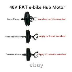 Fat Ebike Motor 36/48v 250/350/500/1000/1500w Moteur Hub Avant/arrière Pour Vélo De Neige
