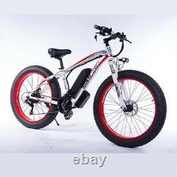 Fat Tyre Electric Bike 26 350w 48v 10ah Haute Puissance Mountain Ebike 21 Speed