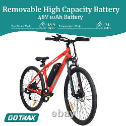 Go Trax Traveler 29'' E-bike 48v 10ah 500w 3 Vitesse Avant Suspension Disques Freins