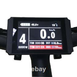Kit De Conversion De Vélo Électrique 1000w 48v Ebike Couleur LCD Affichage Usb Complete Kit