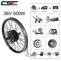 Kit De Conversion De Vélo Électrique Pour 20-29 Pouces 700c 36v 500w Vélo E-bike Moteur De Roue