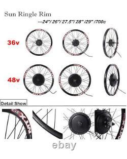 Kit De Conversion E-bike Avec Affichage Couleur Lcd8 24/26/27.5/700c Rim R1ngle Soleil