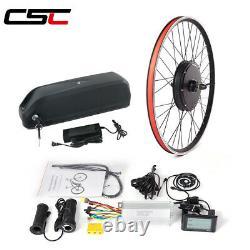 Kit De Conversion E-bike LCD 48v 500w 1000w 1500w Roue Et Batterie Sans Engrenages
