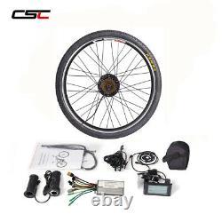 Kit De Conversion Ebike 250-1500w 20 24 26 27,5 28 29'' 700c Moteur De Vélo Électrique