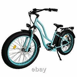 Maxfoot Mf-17 P Vélo Électrique 750w 26 Step-thru Cruiser Commuter E-bike Cyan