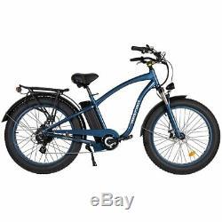 Maxfoot Mf-18p Rétro 750w Vélo Électrique 26 Fat Tire Plage Cruiser E-bike