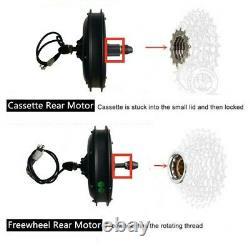 Moteur Mtb Ebike 48v 500w 1000w 1500w Brushless DC Hub Motor Pour Vélo De Montagne