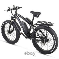 New 26 Montagne Ebike Vélo Électrique 1000w 48v Suvs Gros Pneu Électrique Mope