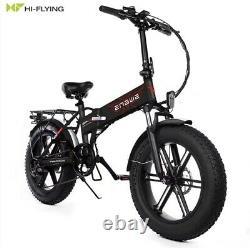 Pliage Électrique E-bike 500w-48v, Fat Tyre 20 Inch 12.5ah, Speed 30mph