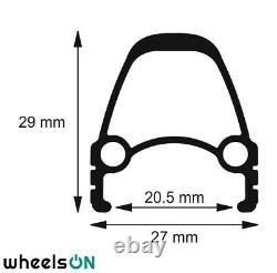 Qr 26 Pouces Wheelson Traction Arrière Avant Ensemble E-bike Shimano Black 8/9/10 Spd Sapim