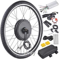 Rasejoy 48v 1000w 26 Kit De Conversion De Moteur À Vélo Électrique De Roue Avant E-vélo