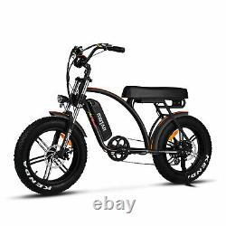Remise À Neuf 750w Electric Bicycle Addmotor M-60 R7 20 Fat Tire Cruiser Ebike