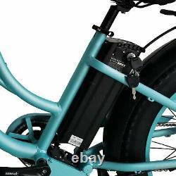 Remise À Neuf 750w Electric Bicycle Maxfoot Mf-17p 26step-thru Cruiser Ebike Cyan