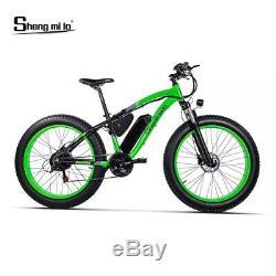 Richbit 1000w 48v 17ah Cruiser Fat Électrique 7 Vitesses Vélo Ebike 26 '' 4.0 Tire