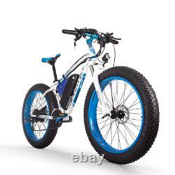 Richbit Top-012 Vélo Électrique 48v 1000w 21speed E-bike 26'' 4.0 Fat Tire