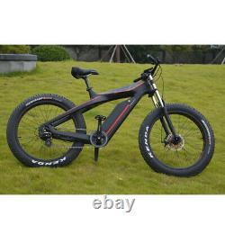 Samedi 750w Carbon Fiber Bike Fat E Bike, 26 Pouces Electric Cruiser Us Duty Free