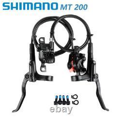 Shimano Mt-200 Ensemble De Freins À Disques Hydrauliques Roue/e-bike Arrière Avant Is/pm 160mm Frein