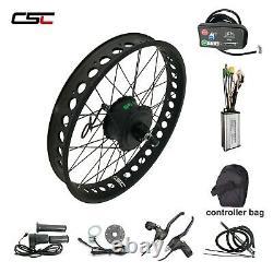 Snow Beach Fat Tire E Bike Kit Vélo Électrique Smart Hub Motor Wheel 36v 250w