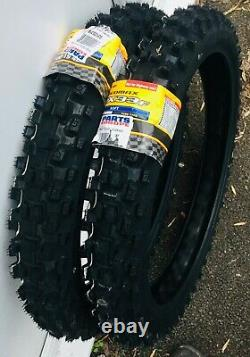 Sur-on Dunlop Mx33 70/100-19 Pneumatiques Avant Et Arrière (paire) X2 Soft Com E Bicycle