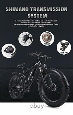 Vélo De Montagne Électrique 1000w 48v Motor 4.0 Fat Tire Kit Vélo Mtb 17ah Battry