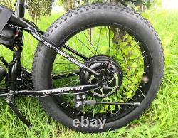 Vélo Électrique 1000w 48v Ebike 26inch Folding Mountain Bike Fat Tire Snow Bike