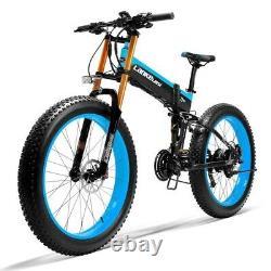 Vélo Électrique 1000w 48v Ebike 26inch Pliage Vtt Fat Tire Snow Bike