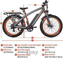 Vélo Électrique 750w 48v 26 Fat Tire Vélo Addmoteur M-560 Mtb Commuter E-bike