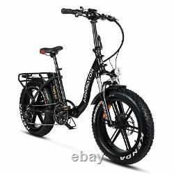 Vélo Électrique 750w Addmotor M-140 R7 Pliage Step-thru Ebike 20fat Tire