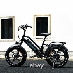 Vélo Électrique Addmotor M-50 20 Fat Tire Snow 750w E-bike City Moped Bike LCD