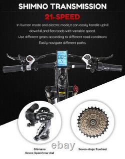 Vélo Électrique De 26 Pouces 1000w 48v E-mountain Vélo Fat Tire Vélo Ebike Shimano