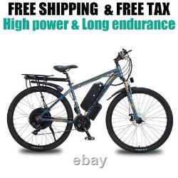 Vélo Électrique De Montagne De 29 Pouces 48v 1000w Vélo Électrique De 21 Vitesses E-bike