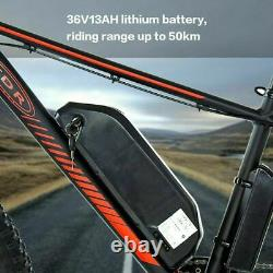 Vélo Électrique Ebike Shimano 7 Speed Mountain Bicycle Lithium Batterie Fat-tyres
