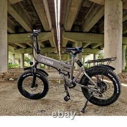 Vélo Électrique Snow Mountain Bike 20inch 4.0 Fat Tire Ebike Beach 500w 40km