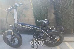 Vélo Pliant Électrique Rénové1000w 48v14ah Maxfoot Mf-19 E Bike Black
