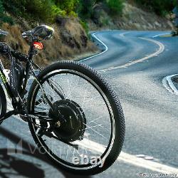 Voilamart Electric Bicycle E-bike 26 Kit De Conversion De Moteur À Roue Arrière Avant